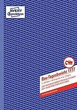 Avery Dennison Zweckform Building quotidien Rapport livre Premier Deuxième et Troisième Page Imprimé A4 3 X 40 pages (texte allemand)