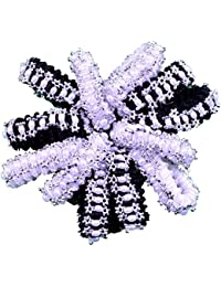 FULLY Graceful & Fashionable Hair Accessories / Hair Bands / Rubber Bands For Hair Styling (Black / White, 12...