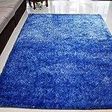 WJSWM Living Room Carpet Area Teppiche Bright Seidenfilament Line Braune Decke 120 * 170 cm Einfach Moderne Umwelt Skin-freundliche Teppiche,Blue