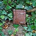 Kleine Wichtel oder Hobbit Türe Garten Deko aus Kunstharz 9cm