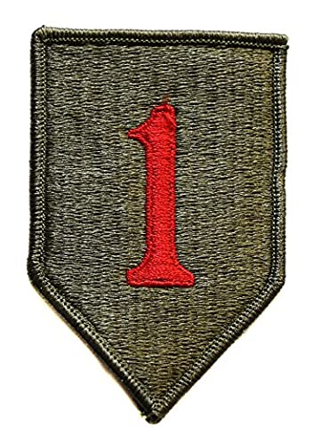 veritable ecusson us army 1 armée de terre usa 9,5x6cm vietnam