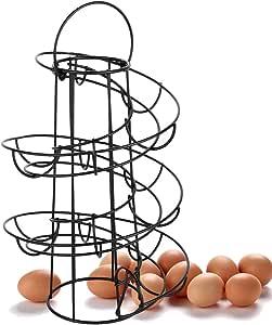 Sttoce Egg Skelter Salvaspazio Contenitore per Uova con Design a Spirale Porta Uova a Spirale Portauova in Ferro Cestino per Uova a Spirale Porta Uova da Cucina Design a Spirale