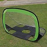 Gazechimp Faltbares Bewegliches Pop Up Target Training Fußball-Tor Grün 102 x 70 x 75cm, für Außenbereich, Garten, Spielzeug