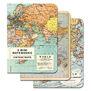 Vintage Maps Mini Notebook