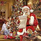 20serviettes 33x 33cm Noël Père Noël souhaits coton enfants Cadeaux