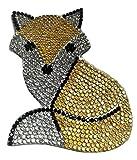 Strass Fuchs Aufnäher Iron on Patches für Jacken Cap Hosen Jeans Kleidung Stoff Kleider Bügelbilder Sticker Applikation Aufbügler zum aufbügeln
