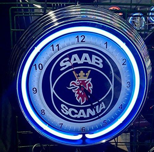 neon-reloj-saab-scania-garage-sign-reloj-de-pared-estados-unidos-50-s-style-neon-color-azul