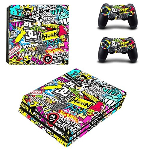 gotor® Body Wrap Sticker Skin Decal Protector Faceplate pelle decalcomania etichetta per Playstation 4 Pro PS4 Pro Console Controller (6#)
