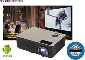 TS Projector Life Projector TS-HD11A, Android 6.0 with wi-fi HD LED Projector, 4300Lumens, Native Resolution 1280x800, 4K Video Support