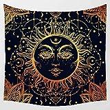 Zuonuoo Étoile Nationale Vent Imprimer Grande Tapisserie Murale Pas Cher Hippie Tenture Art Tapis Bohème Décoratif Salon Salle À Manger Tissu décoratif_150X150cm...