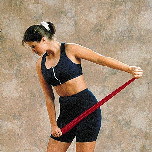 Preisvergleich Produktbild Fitnessbänder Widerstand / Training Fitness- / -auch ideal für Reha-Übungen / Farbe: Granatrot / Intensität: 5