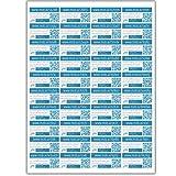 mobycards 40 QR-Code Sticker Bogen (A4) - 40 Sticker zum erweitern von Geschenken, Grußkarten und handschriftlichen Notizen mit Fotos, Videos, Audios, Texten, Dateien und mehr.