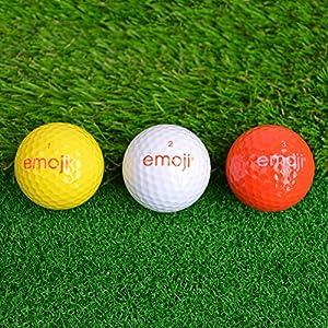 Emoji Erwachsene 6er Set Neuartige Fun Golfbälle, Multicoloured, 6