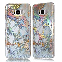 TPU Case for Samsung Galaxy S8 Plus, Silicone Marble Case Cover for Samsung Galaxy S8 Plus, ZCRO Cool Back Cover for Samsung Galaxy S8 Plus Case Soft Silicone Gel TPU Marble Stone Texture Pattern Shiny Creative Design Flexible Transparent Frame Bumper Ult