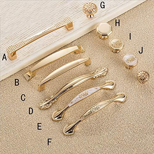 Angela-homestyle Schubladengriff Möbelgriff Möbelgriffe Schrankgriff Küchengrif Zierteile Türgriff Griffe Gold (B, 96mm) (Türgriff Gold)