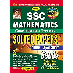 SSC Mathematics Chapterwise & Typewise Solved Papers 1999 - April 2017 - English - 1905