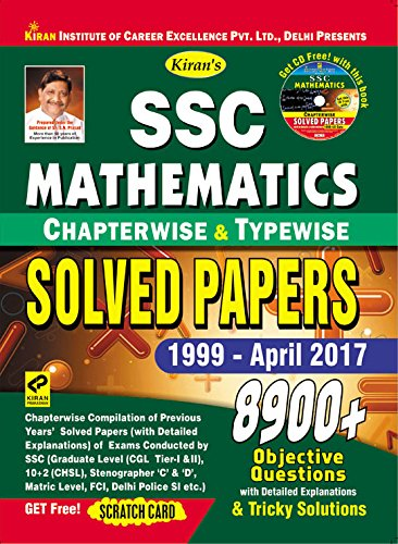 SSC Mathematics Chapterwise & Typewise Solved Papers 1999 - April 2017 - 1905