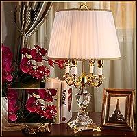 lampade da tavolo di cristallo di lusso in stile europeo illuminazione creativa moderno studio camera da letto minimalista salotto lampada da comodino