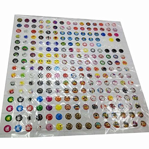 Tonsee 330pcs/Menge Cartoon Gummi Home Button Aufkleber für iPhone 4-5-6-6plus 6s für Ipad 1 2 3