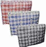 6 X EXTRA LARGE STRONG LAUNDRY STORAGE SHOPPING BAG REUSABLE STORE ZIP BAGS NEW