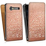 Samsung Galaxy S Advance i9070 Sacoche Housse de Protection Walletcase Bookstyle Phrases Amour Heureux