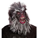 Gorilla Maske Affenmaske schwarz-grau Gorillamaske Affe Maske Tiermaske King Kong Faschingsmaske