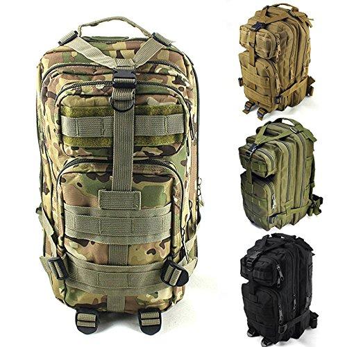 syr-outdoor Military Tactical Camouflage Attack Tactical 3P Rucksack Camping Wandern Trekking Tasche Sport Rucksäcke Armeegrün