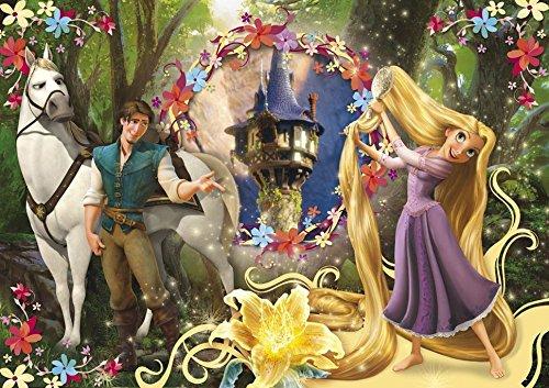 Clementoni 24436 - Puzzle Maxi Rapunzel Let Down Your Hair, 24 pezzi