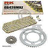Kettensatz Kreidler Supermoto 125 DD 08-14, Scheibenbremse, Kette RK GB 428 MXZ