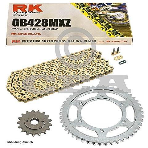 Kettensatz Kreidler Supermoto 125 DD 08-10, Scheibenbremse, Kette RK GB