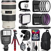 "Canon EF 50mm F/1.4 USM Lens 2515A003 + Canon Speedlite 430EX III-RT Flash + 0.43X Wide Angle Lens + 2.2X Telephoto Lens + UV-CPL-FLD Filters + Macro Filter Kit + 72"" Monopod - International Version"