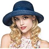 Kqpoinw Sombrero para El Sol, Gorra de Paja para Mujer Sombrero Plegable Sombrero Ancho de ala Ancha Sombrero para El Sol Som