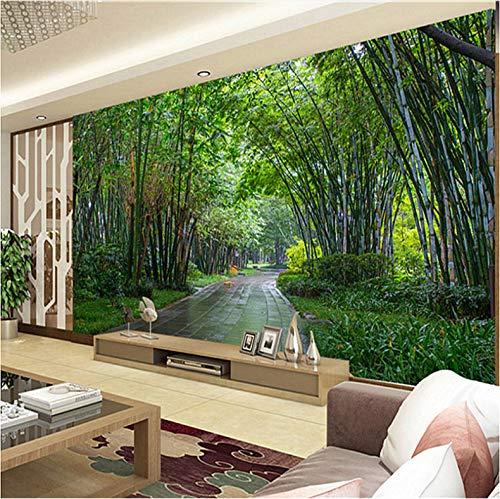 VVBIHUAING 3D Wand Aufkleber Tapete Dekorationen Wandbilder Bambuswaldlandschaft Wohnzimmer Hintergrund Umwelt Kunst Kinder Küche (W) 400x(H) 280cm -
