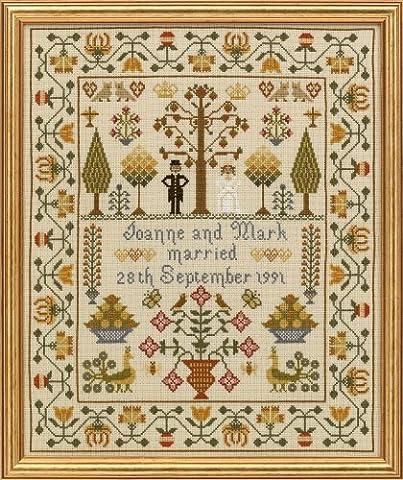 Historical Sampler Co. Wedding Sampler Cross Stitch