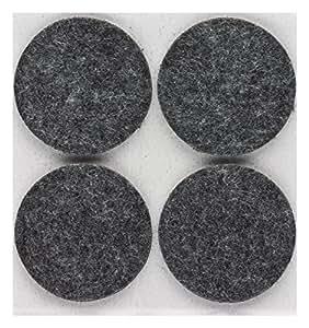 Patins feutre Peha®/Meubles glisse/en feutre de laine, autocollant, rond, 5,0mm d'épaisseur, Ø = 42mm, gris (Lot de 4)
