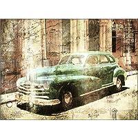 120x80cm Cuba Beige Braun Grün Abstrakt Kunstdruck Von Paul Sinus Art    Leinwandbild Fertig Auf Keilrahmen, Tolle Optik   Deutsche Qualität    Moderne ...