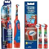 Voordeelset: 1 Braun Oral-B Stages Power Kids cls batterij tandenborstel kinderen DB4.510.K Disney Cars + 2-delige power opze