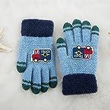 MEIDUO Gants et moufles Gants de mitaines pour enfants hiver Gants de dessin animé 3-8 ans Meilleurs cadeaux ( Couleur : Bleu )