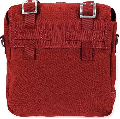 Bortbeutel Umhängetasche Canvas Bag in vielen Farben Rot