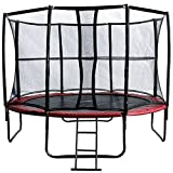 MIWEBA SPORTS Exclusiv Trampolin 14 FT 427 cm komplett Set in rot Gartentrampolin