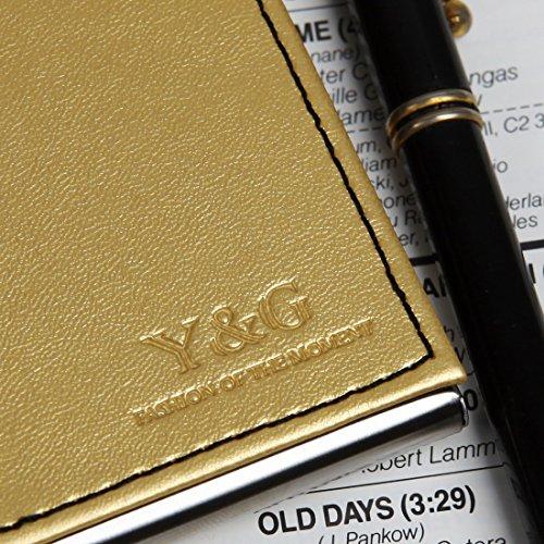 YDC05 Bester Visitenkarte-Halter-Leder-Karten-Kasten Ausgezeichneter Designer durch Y&G YDC06A13-Braun