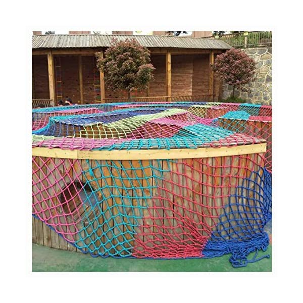 WLnet Child Safety Anti-fall Net, Color Balcony Loft, Stair Railing Protection Net Hand-woven Traditional Structure Nylon Rope Net Mesh 10mm * 6cm (Size: 2 * 3m) (Size : 4 * 9M)  [Anti-fall net preferred material] select high quality nylon material, healthy and environmentally friendly, strong and tough, durable [Anti-fall net double buckle weaving] hand knotted, not easy to off the line, beautiful and strong, [Anti-fall net surrounding rope] has a separate side rope design on four sides, solid fixed, wear-resistant, stable support net 7