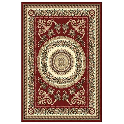 YXZN Traditionelle orientalische Teppiche Wohnzimmer Schlafzimmer Bereich Teppich Hotel Rutschfeste Bodenmatte Luxus Dekoration Teppich,Red,40X60CM - Luxus Traditionelle Teppich