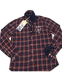 bordeaux quadri camicia Amazon A Abbigliamento it 4EfqB