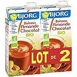 Bjorg - Lot De 2 Boisson Amande Choco 2x1l - (Prix Par Unité ) - Produit Bio Agrée Par AB