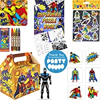 Kids Birthday Party Bags - Pre Filled Boys and Girls Toys, Bubbles, Tattoos and more Party Favours for Children - Single or 12 Packs