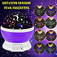 Star Projector Lamp, Umiwe 3 Modes Colorful Rotating Night Light Lamp for Children Sky Star Cosmos Projector Light for Kids Children Adults Bedroom Baby Nursery Christmas Gift from Umiwe