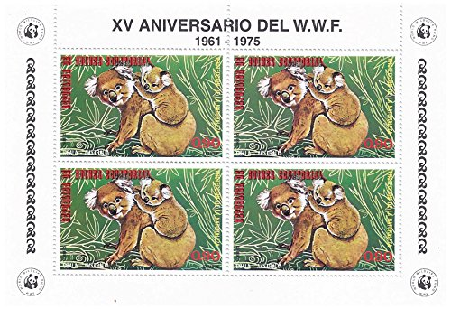 world-wildlife-fund-15th-anniversary-stamp-sheet-for-collectors-koala-bear-block-of-four-equatorial-