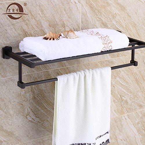 KHSKX Bronzo nero asciugamano rack rame Accessori per bagno American