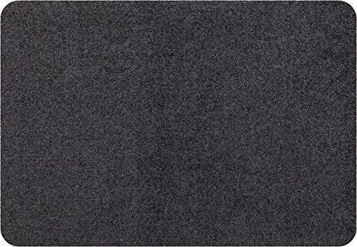 Salonloewe Mini Matte anthrazit waschbare kleine Fußmatte , Größe:25 x 39 cm